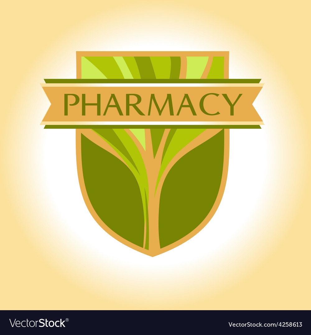 Medical pharmacy logo design template editable vector