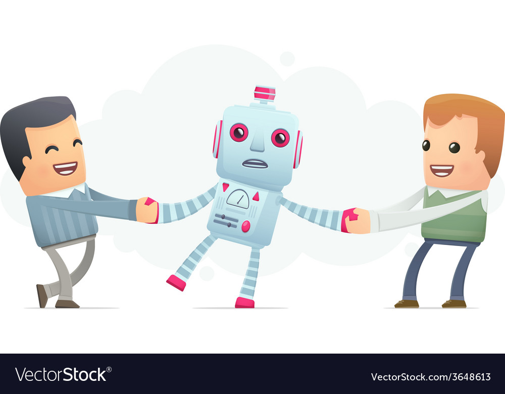 People want to get himself the robot vector | Price: 1 Credit (USD $1)