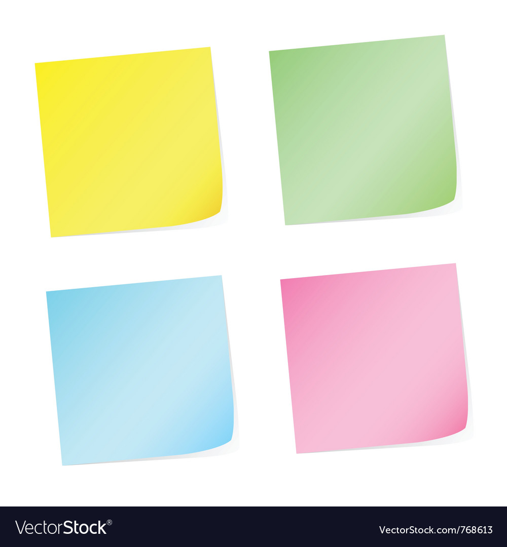 Post-it vector | Price: 1 Credit (USD $1)