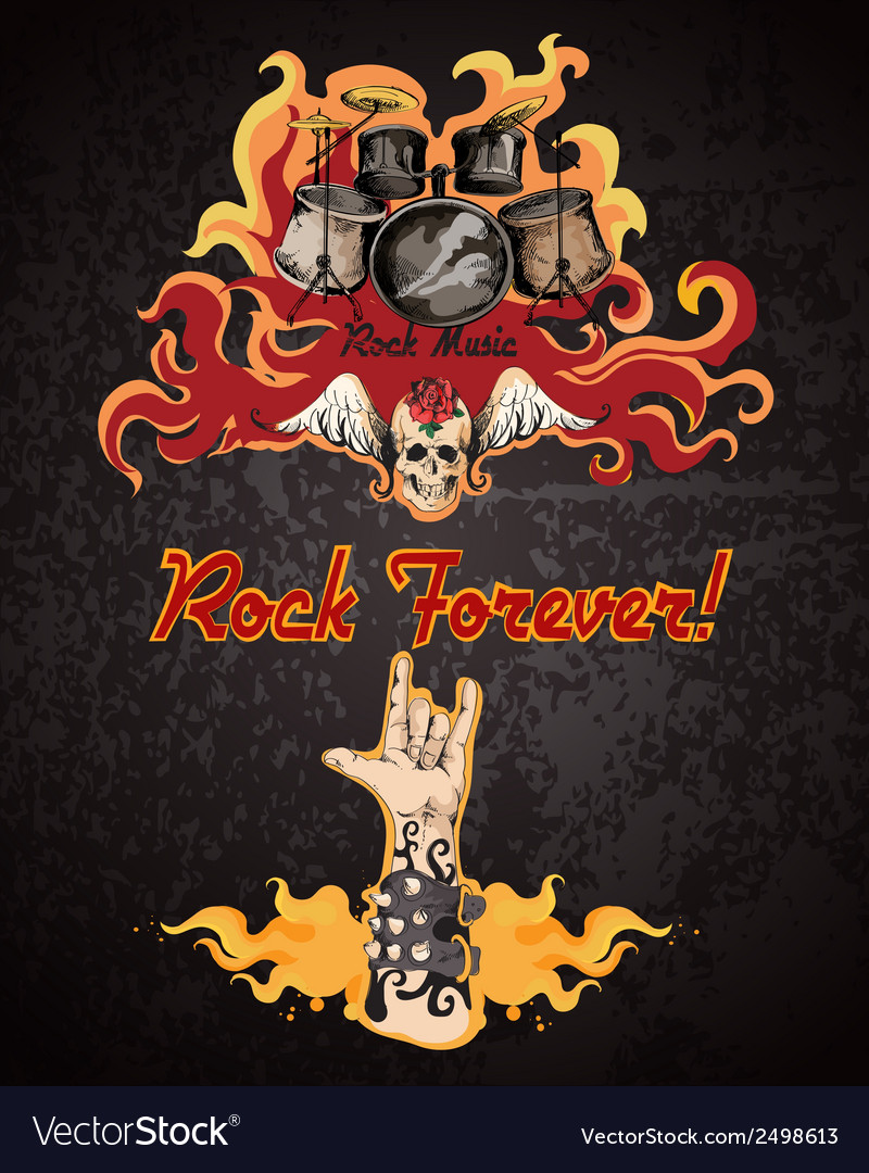 Rock music poster vector | Price: 3 Credit (USD $3)