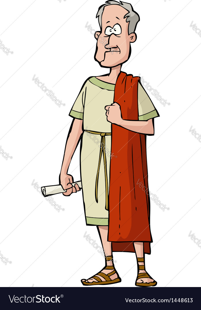 Roman senator vector | Price: 1 Credit (USD $1)