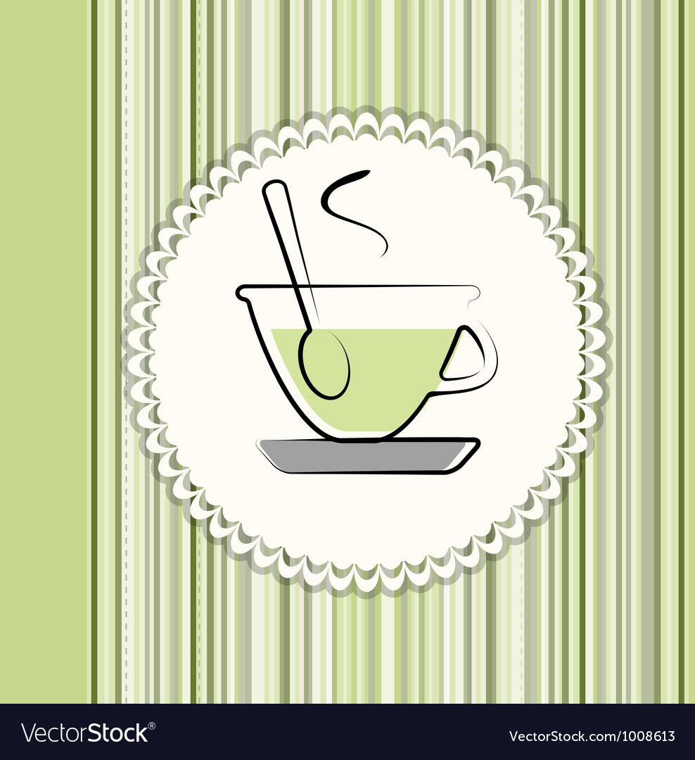 Tea menu card vector | Price: 1 Credit (USD $1)