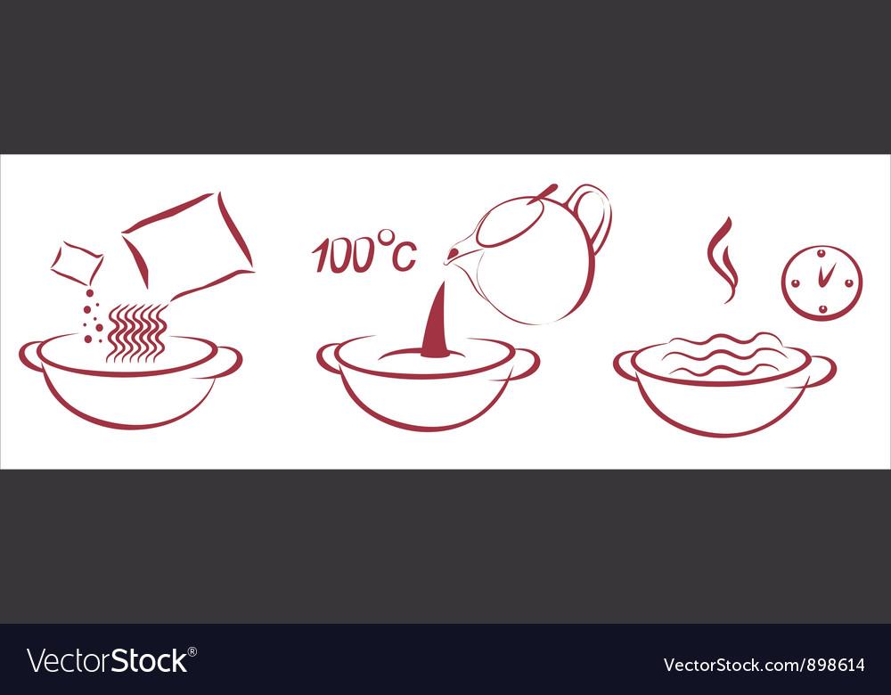 Fast soop schema of cooking vector | Price: 1 Credit (USD $1)
