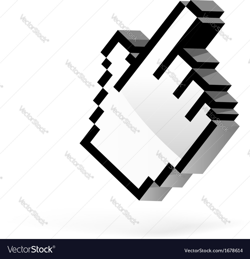 Hand arrow cursor vector | Price: 1 Credit (USD $1)