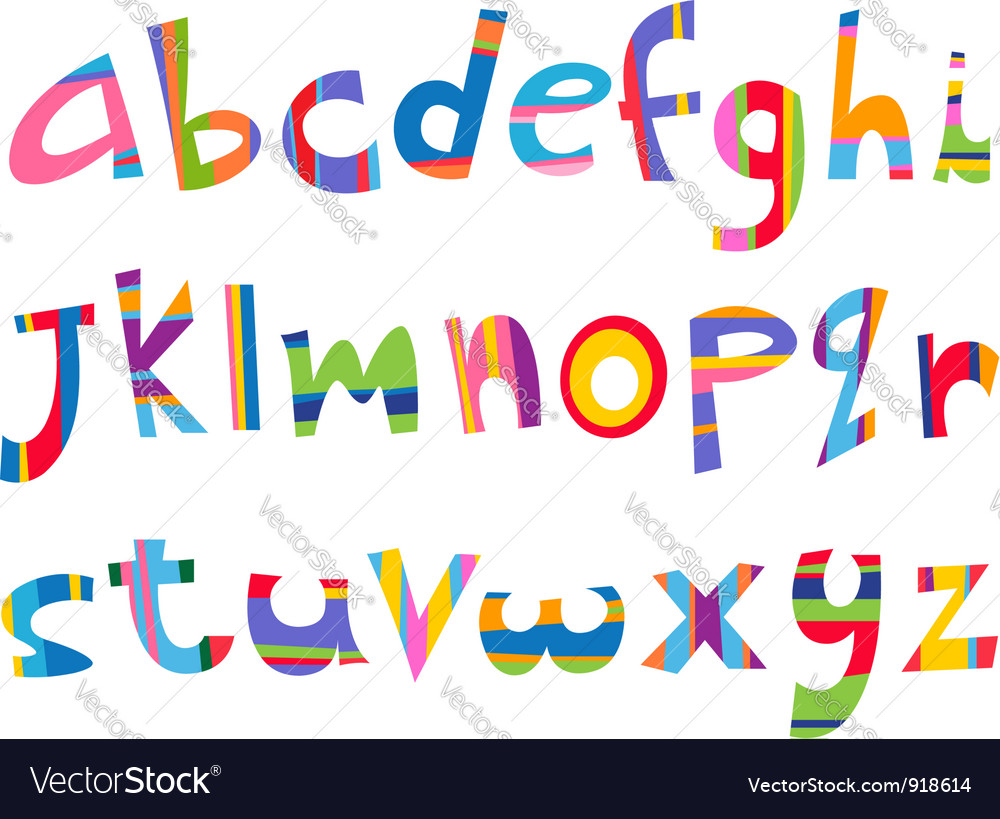 Lower case fun alphabet vector | Price: 1 Credit (USD $1)
