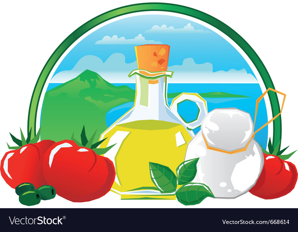 Mediterranean food vector | Price: 1 Credit (USD $1)