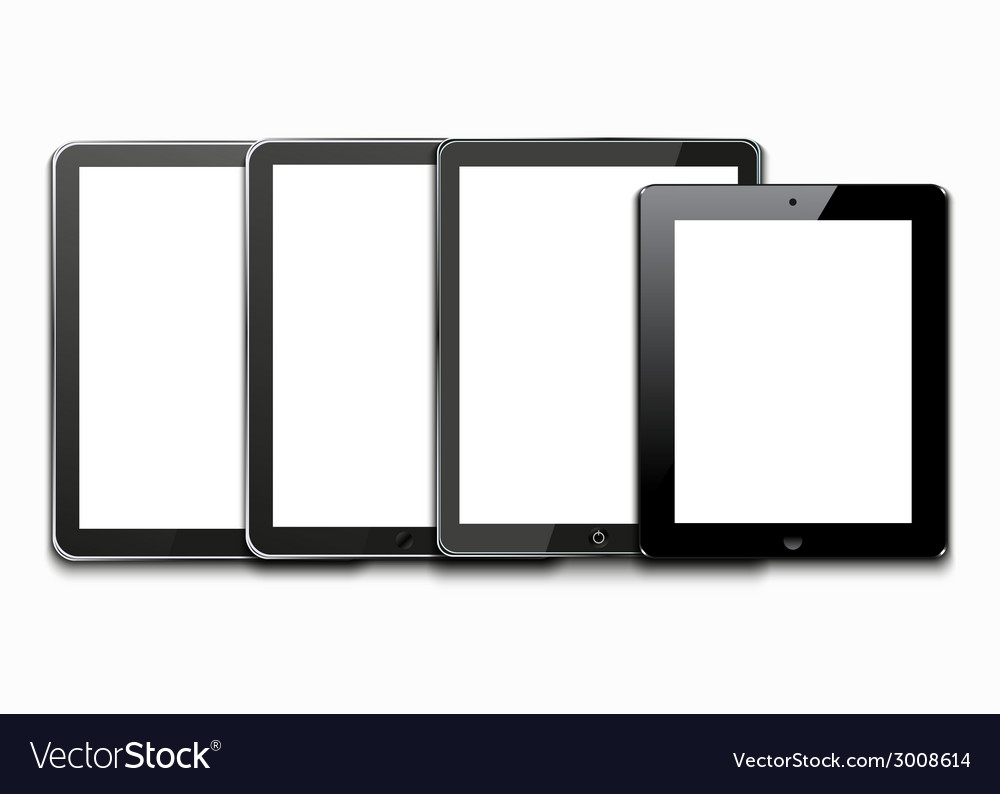 Modern computer tablets on white vector | Price: 1 Credit (USD $1)