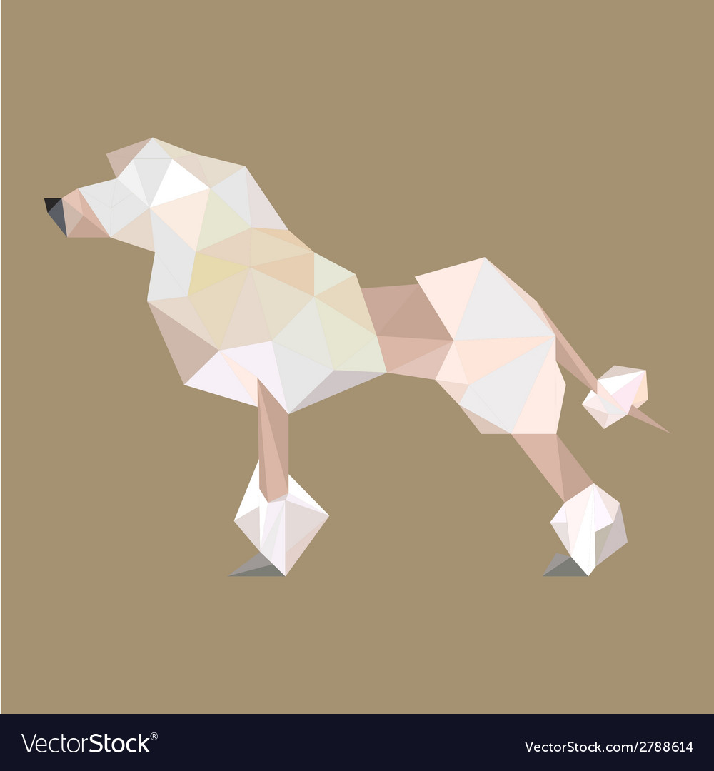 Origami puddle dog vector | Price: 1 Credit (USD $1)