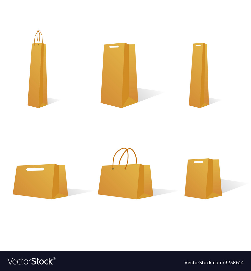 Paper bags in various sizes vector | Price: 1 Credit (USD $1)