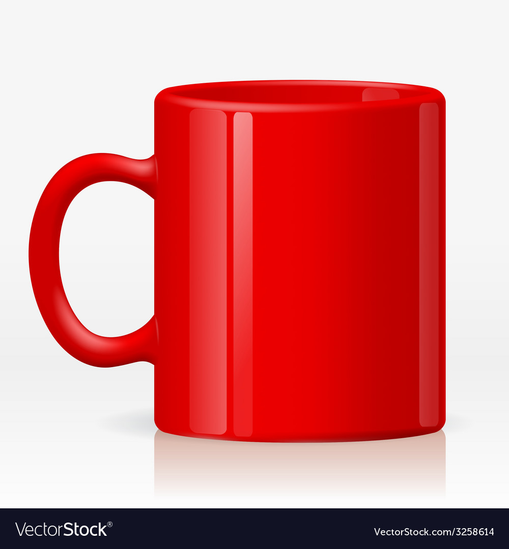 Red cup vector | Price: 1 Credit (USD $1)
