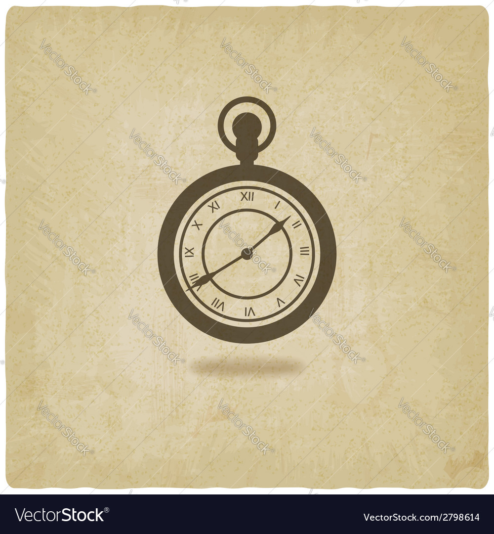 Retro pocket watch old background vector | Price: 1 Credit (USD $1)