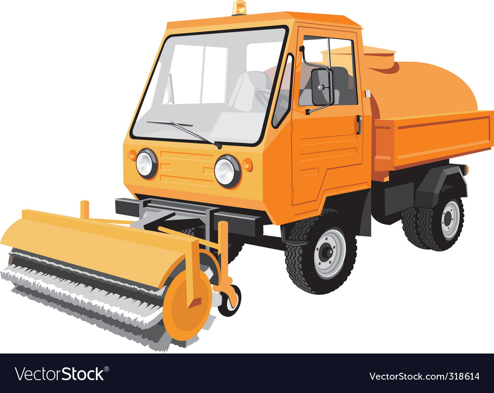 Street sweeper vector | Price: 3 Credit (USD $3)