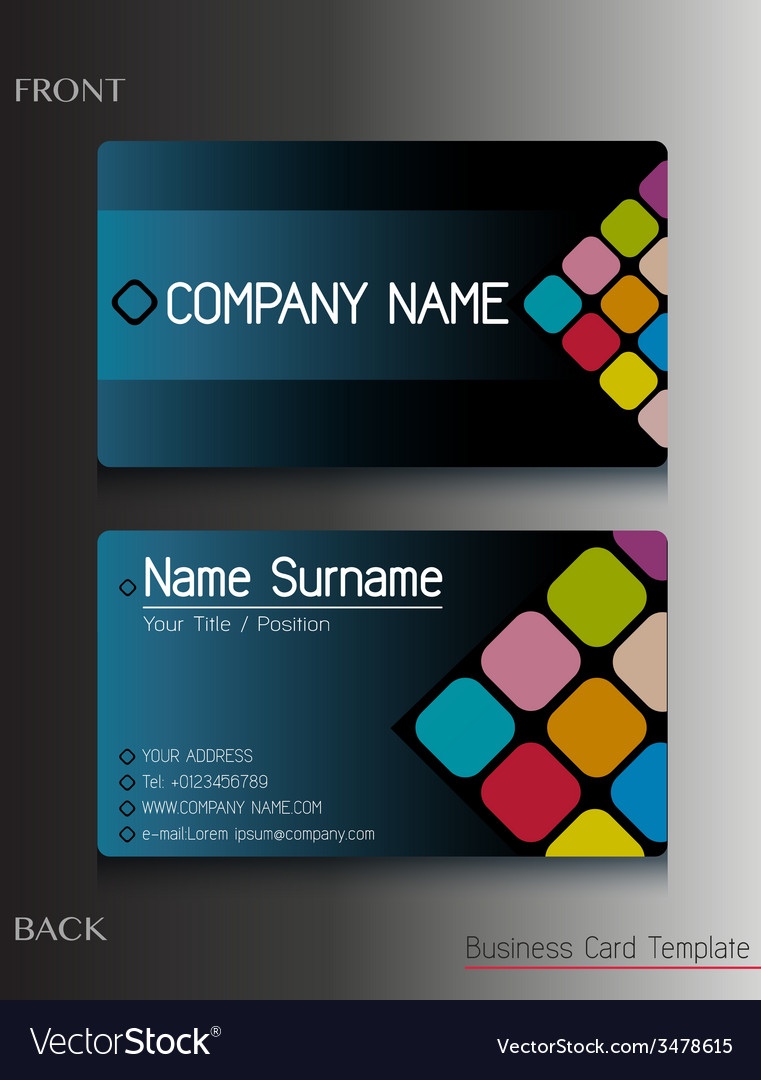 A business card design vector | Price: 1 Credit (USD $1)