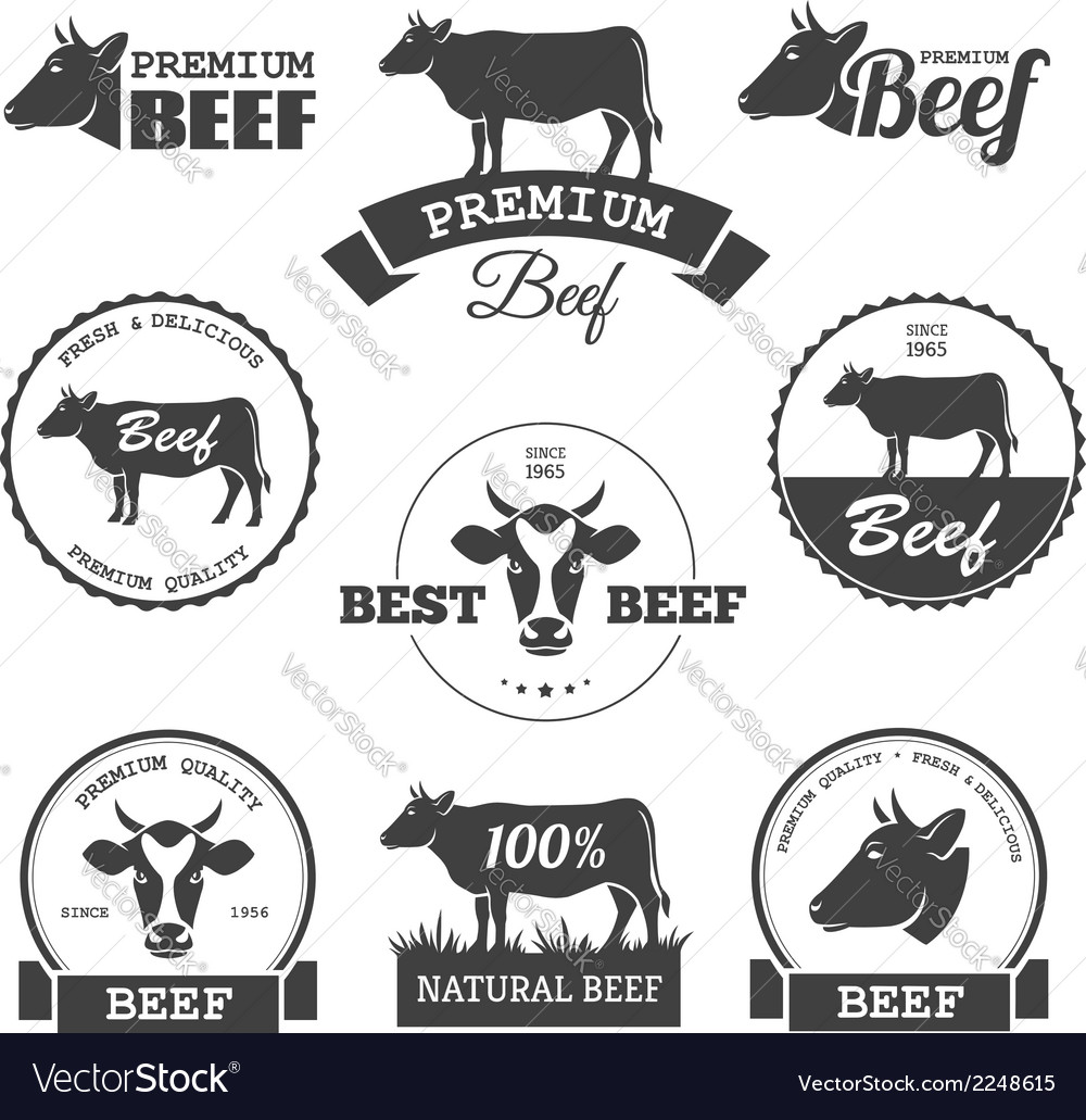 Beef labels vector | Price: 1 Credit (USD $1)