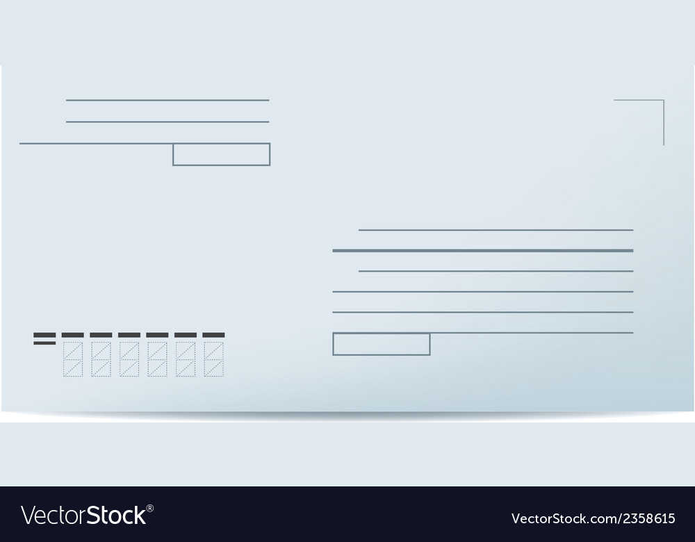 Blank envelope vector | Price: 1 Credit (USD $1)