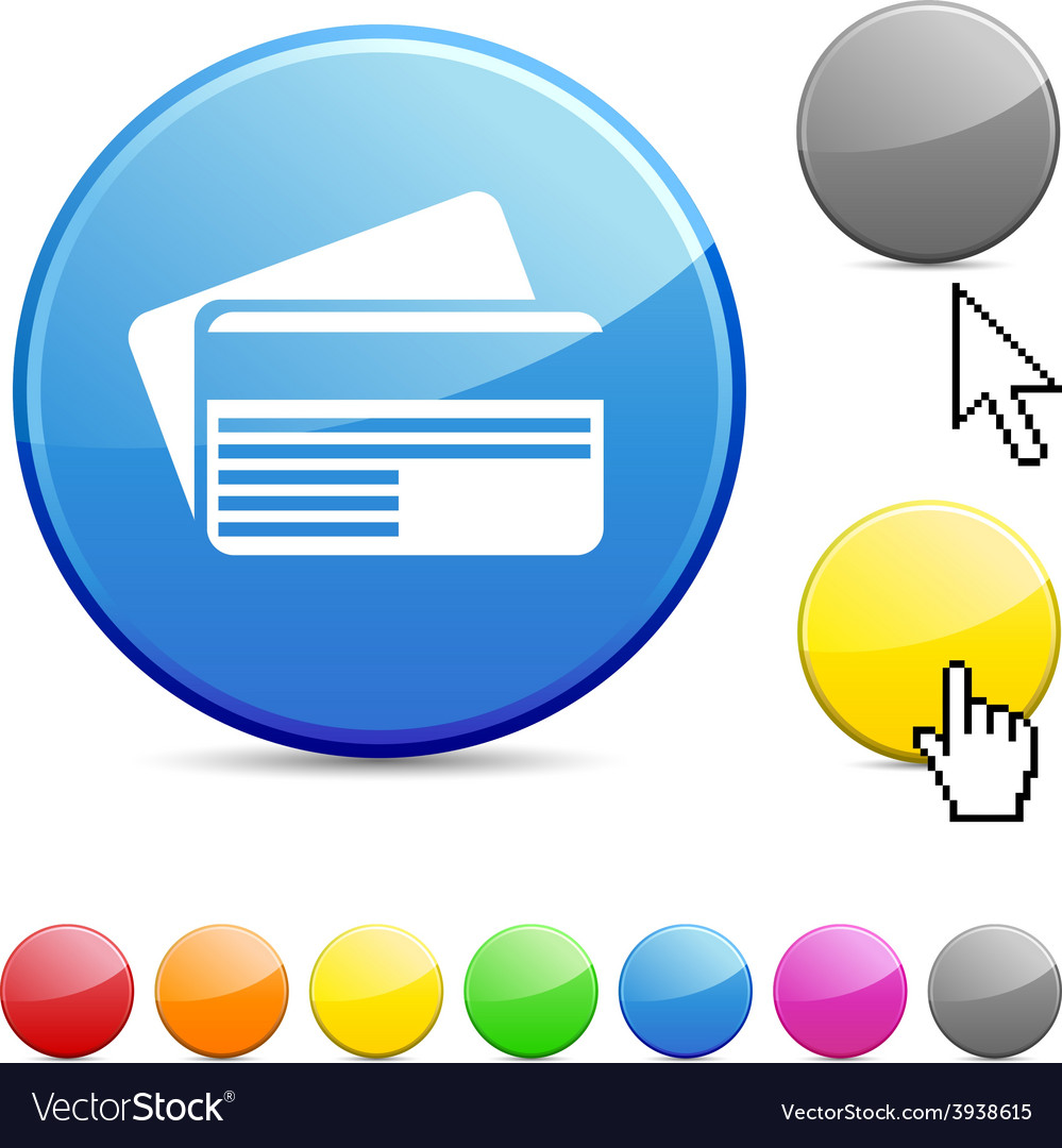 Card glossy button vector   Price: 1 Credit (USD $1)