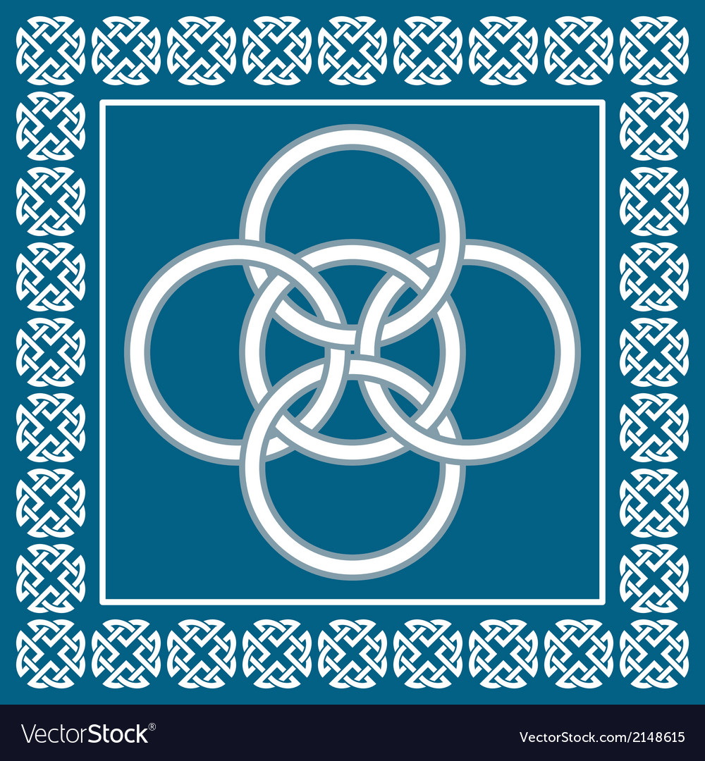 Celtic five fold knot symbolizes four elements vector | Price: 1 Credit (USD $1)