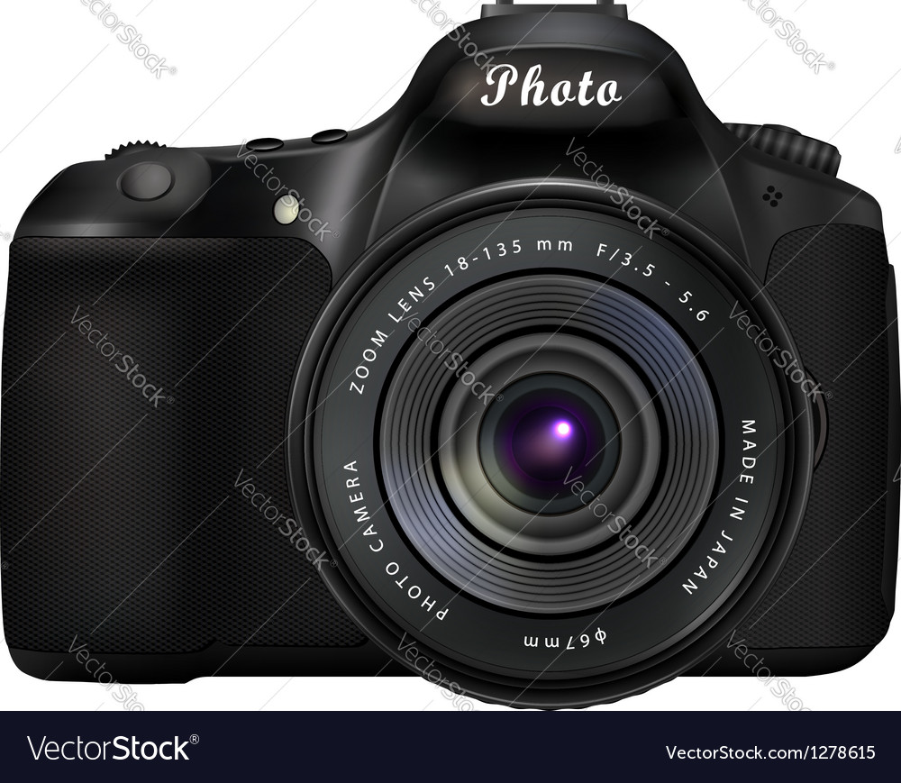 Digital slr photo camera vector | Price: 1 Credit (USD $1)