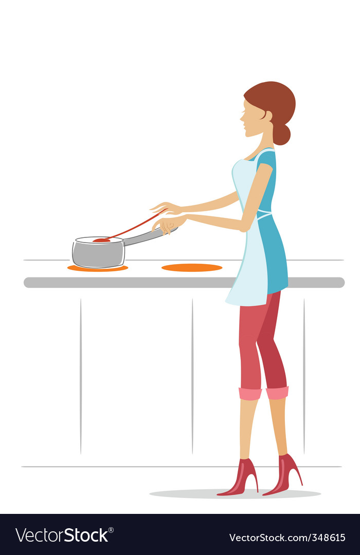 Female cook vector | Price: 1 Credit (USD $1)
