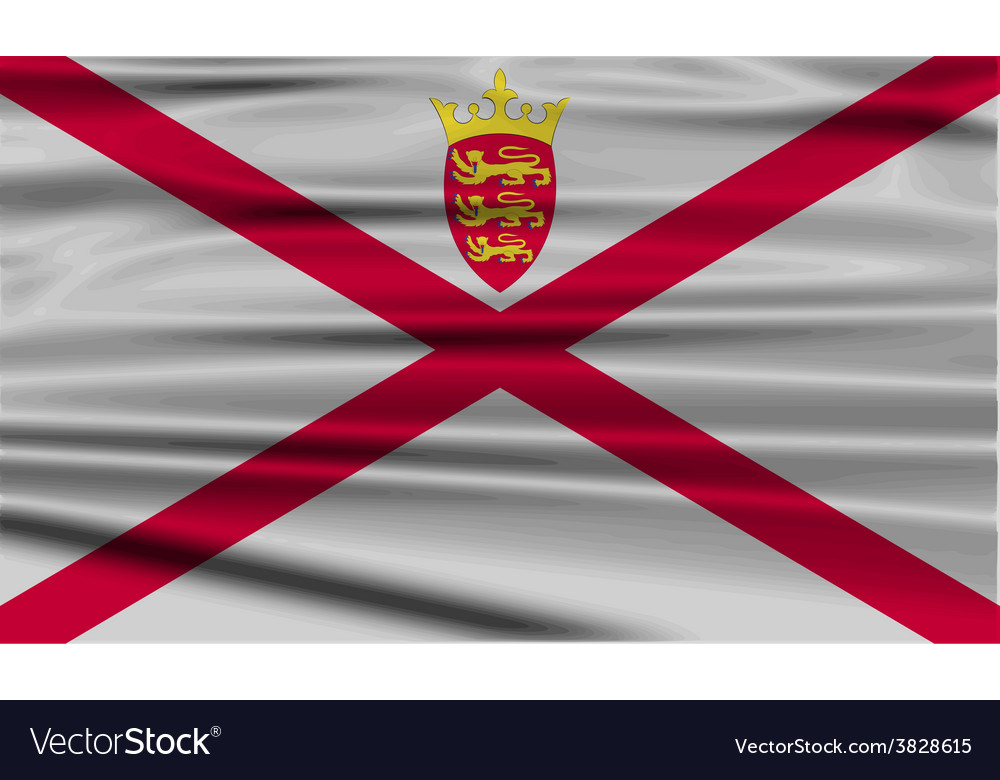 Flag of jersey with old texture vector | Price: 1 Credit (USD $1)
