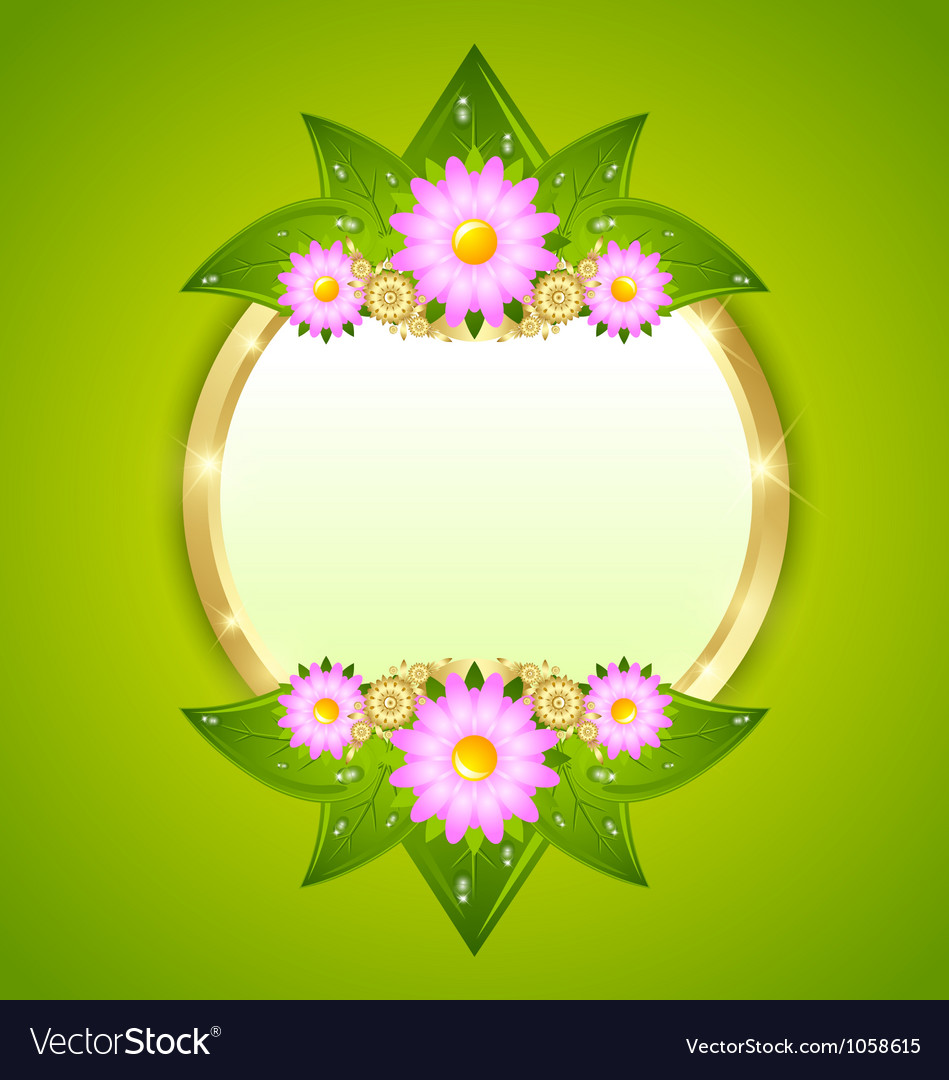 Flower plaque template vector | Price: 1 Credit (USD $1)