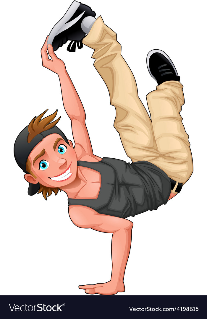 Funny breakdancer vector | Price: 1 Credit (USD $1)
