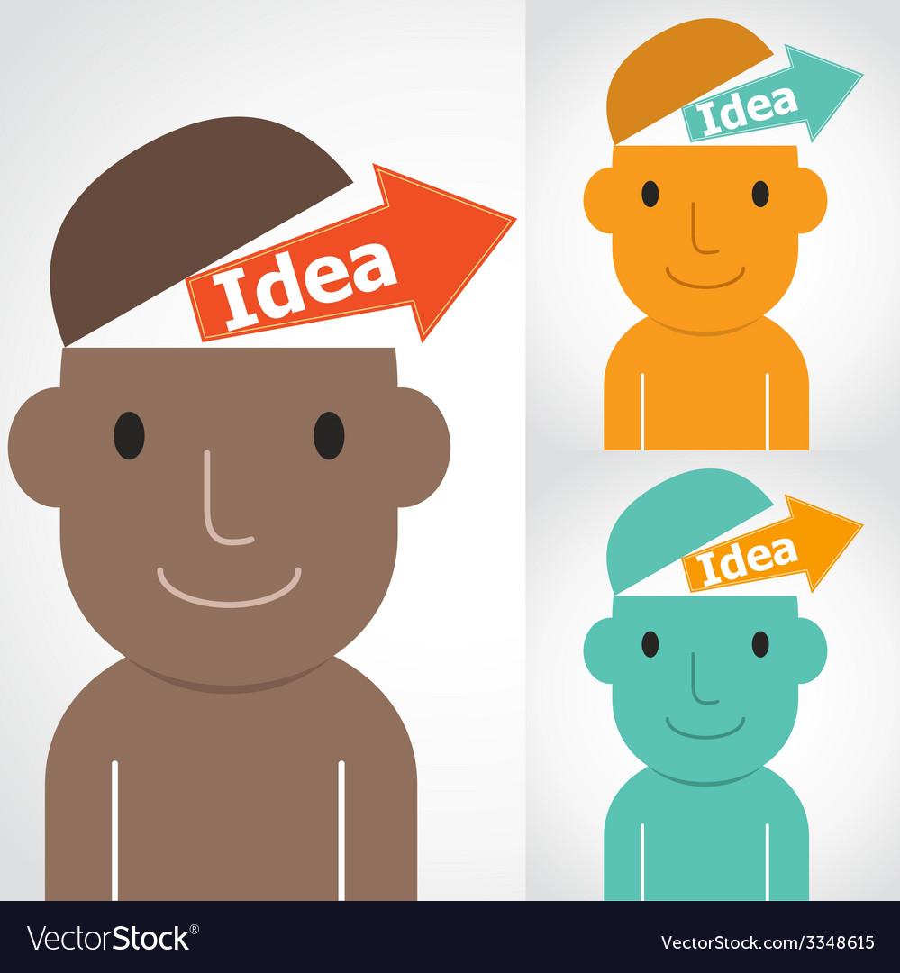 Idea man vector | Price: 1 Credit (USD $1)