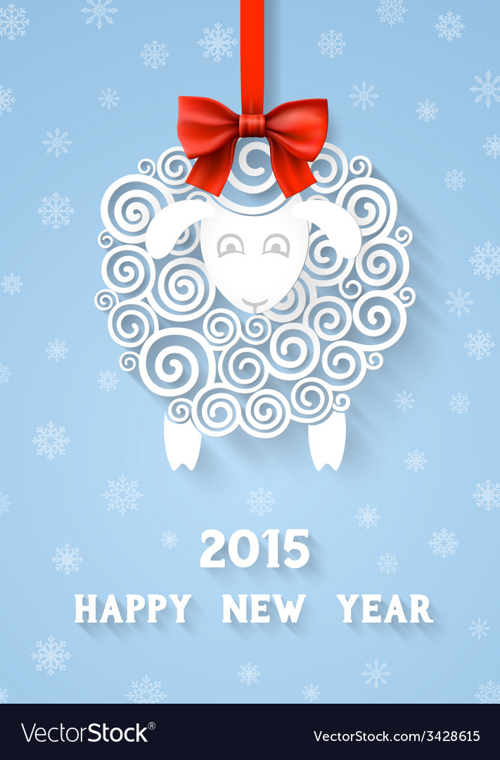 New years sheep vector   Price: 1 Credit (USD $1)