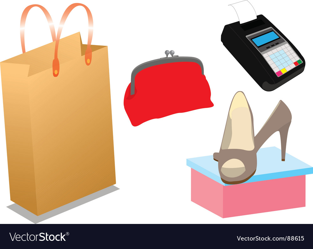 Shopping items vector | Price: 1 Credit (USD $1)