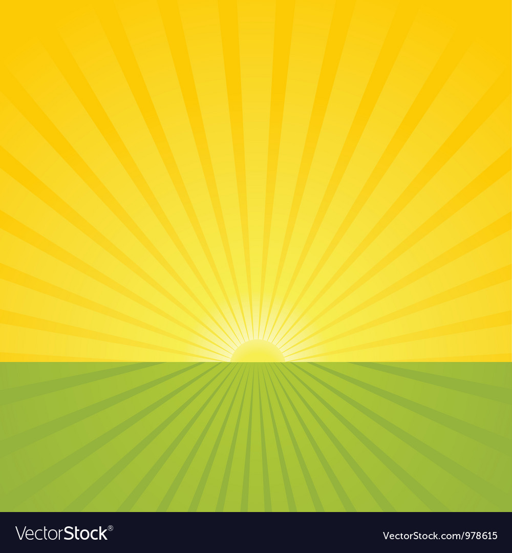 Sunrise scene vector | Price: 1 Credit (USD $1)