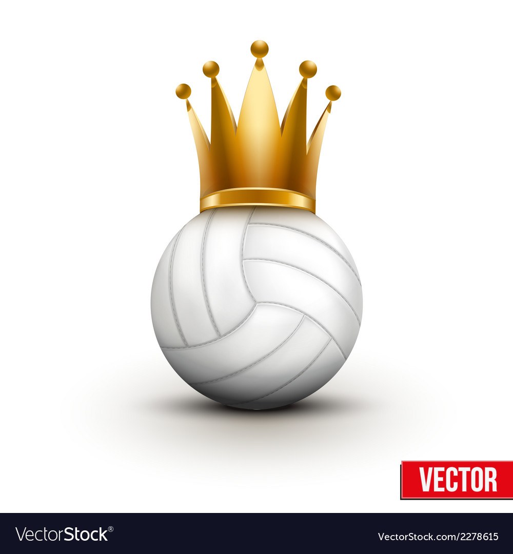 Volleyball ball with royal crown of queen vector | Price: 1 Credit (USD $1)