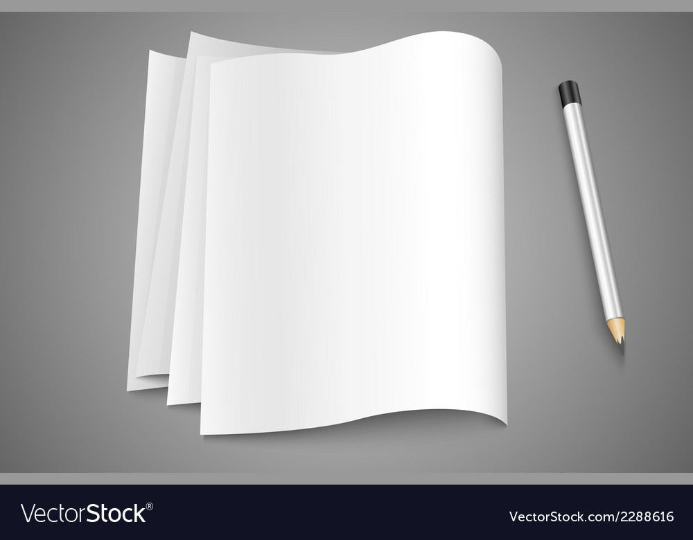 Blank pages pages vector | Price: 1 Credit (USD $1)