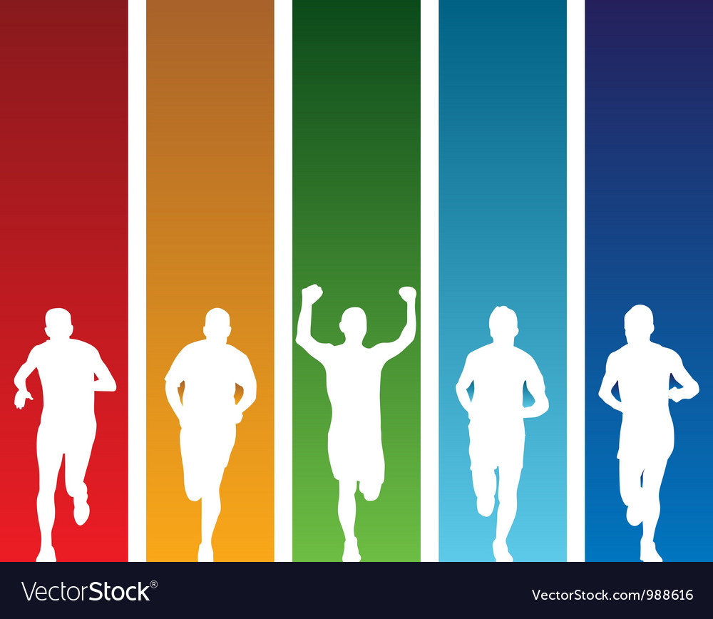 Colourful runners vector | Price: 1 Credit (USD $1)