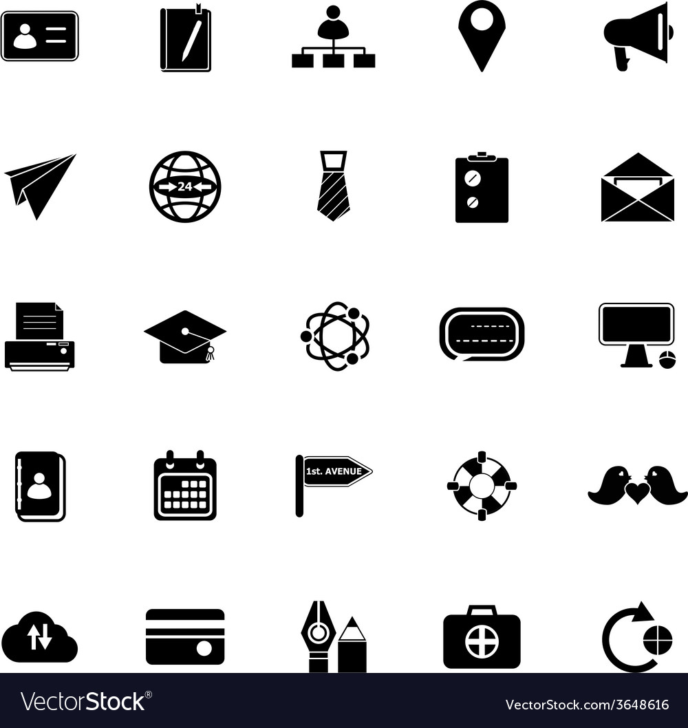 Contact connection icons on white background vector | Price: 1 Credit (USD $1)