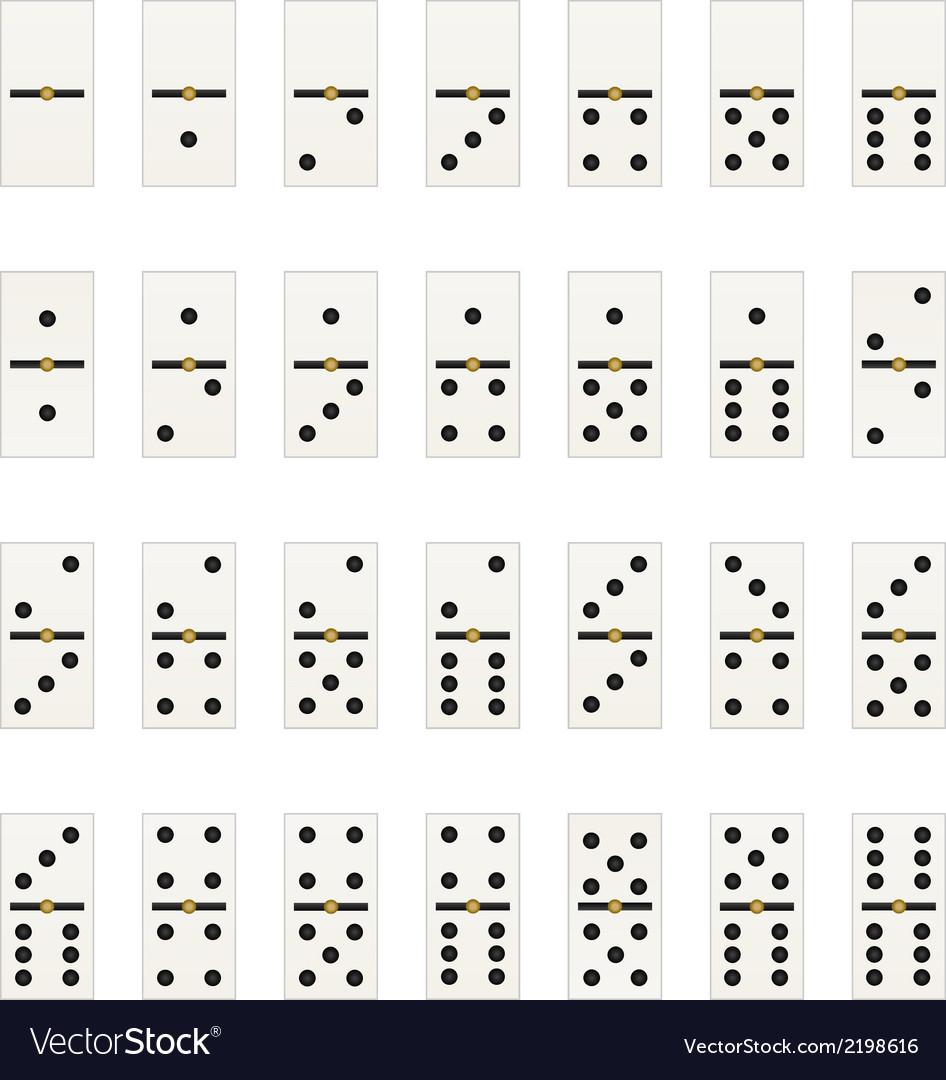 Domino tabs vector | Price: 1 Credit (USD $1)