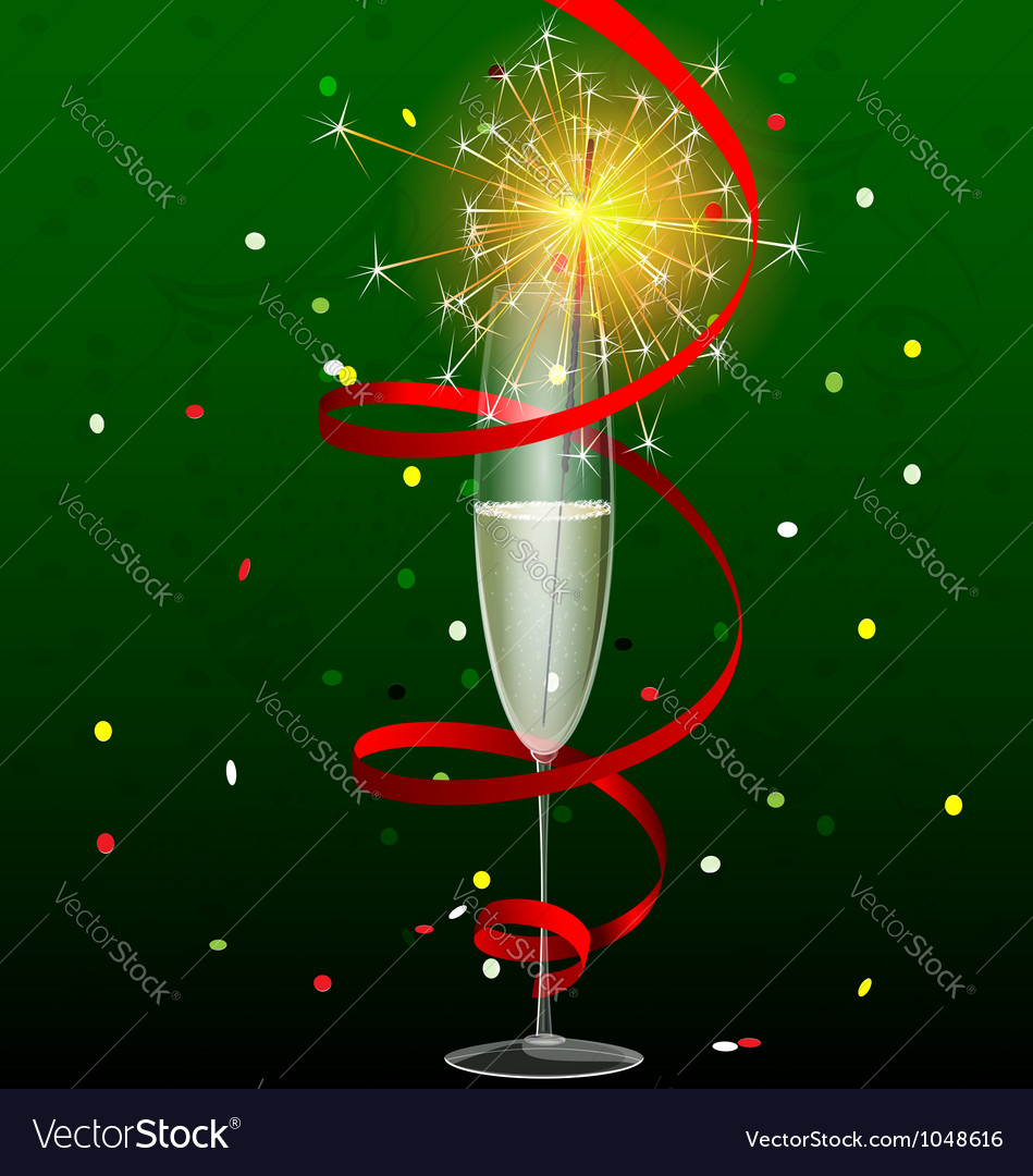 Drink and sparkler vector