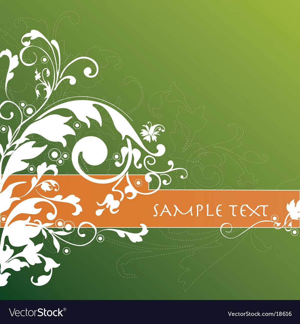 Floral background banner vector | Price: 1 Credit (USD $1)