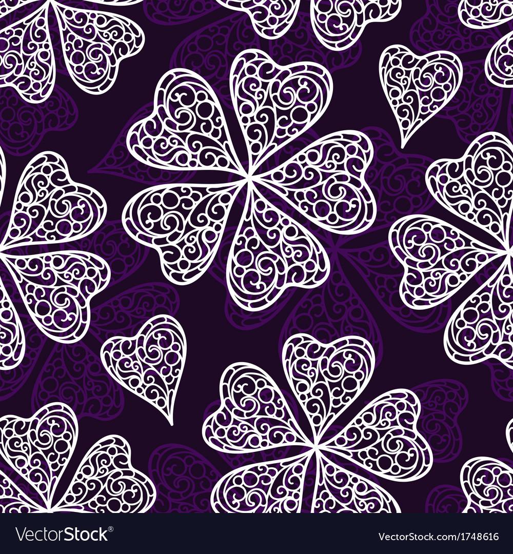 Flourish seamless pattern vector | Price: 1 Credit (USD $1)