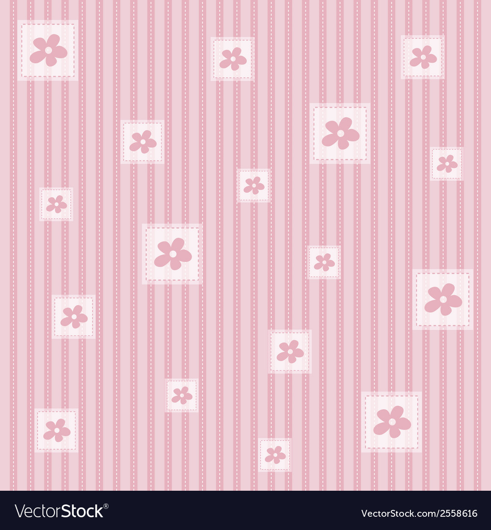 Flower seamless pattern background vector | Price: 1 Credit (USD $1)