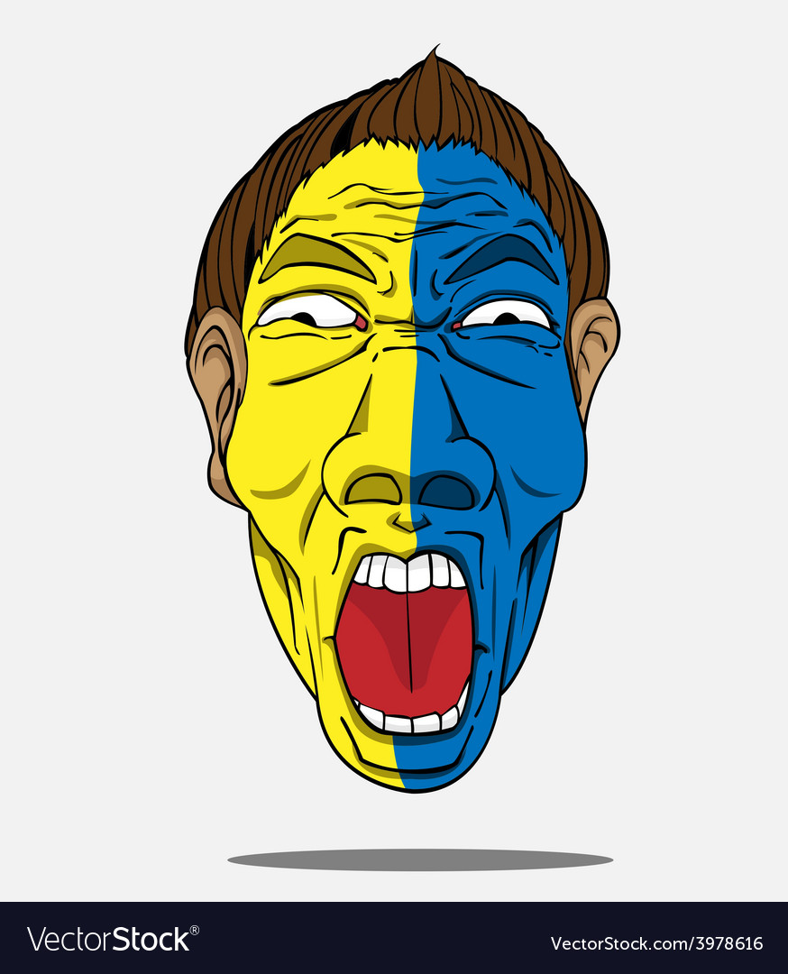 Football fan from sweden vector | Price: 1 Credit (USD $1)