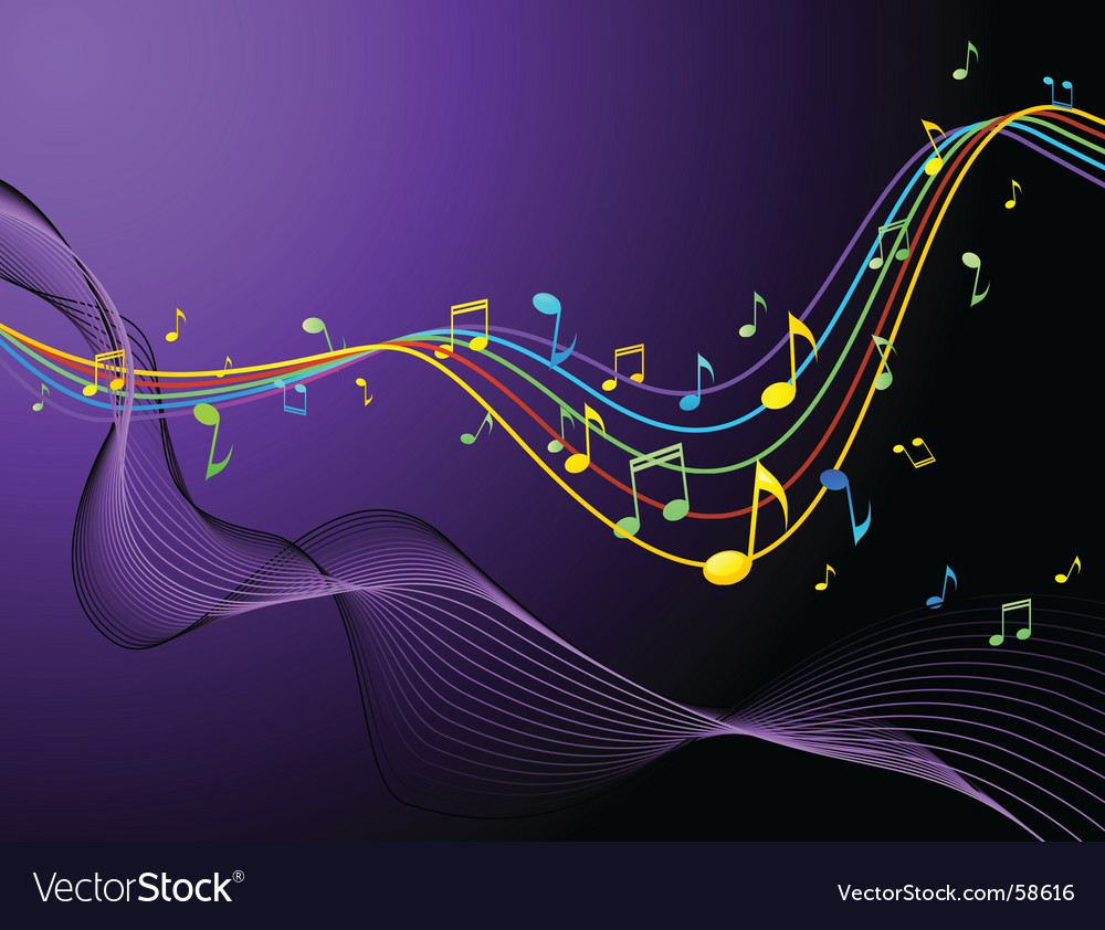 Music blend rainbow vector | Price: 1 Credit (USD $1)