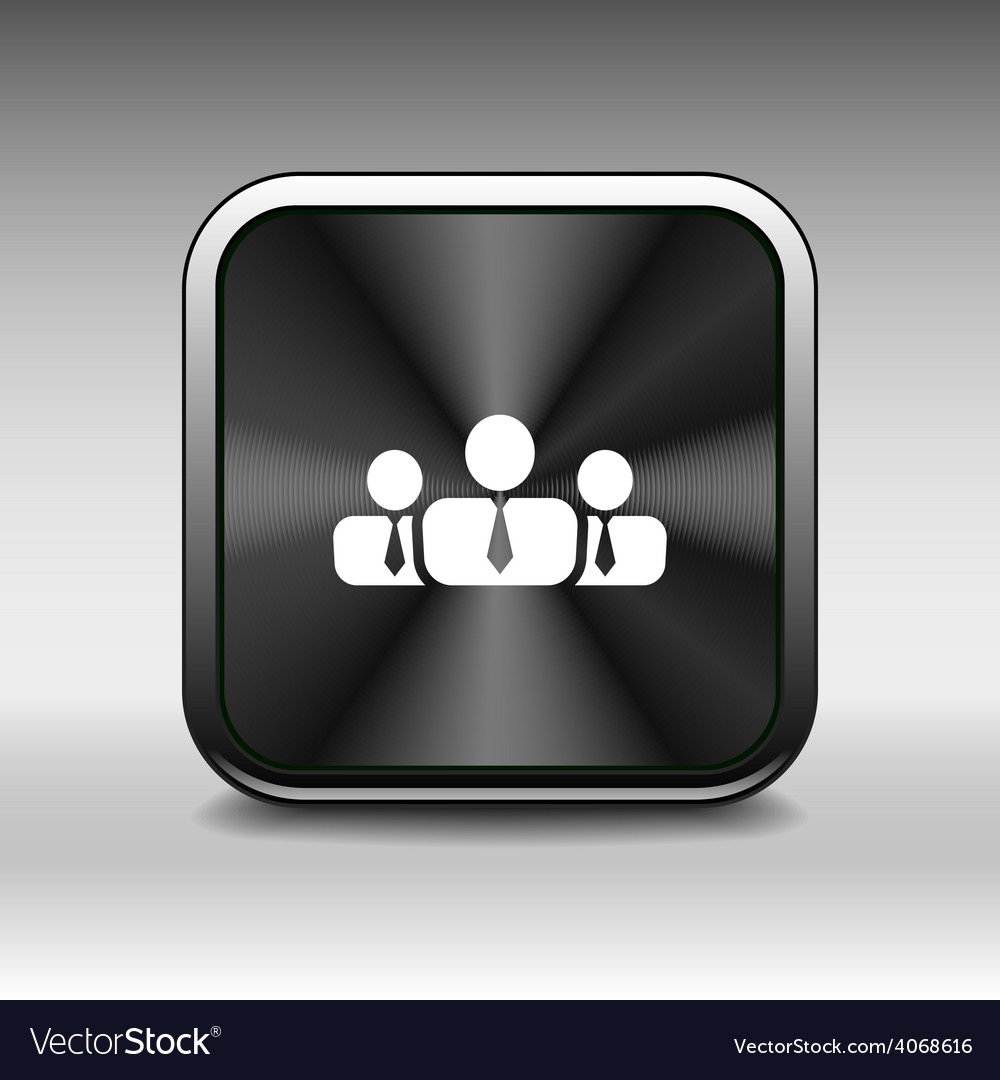 People icon business communication relationships g vector | Price: 1 Credit (USD $1)