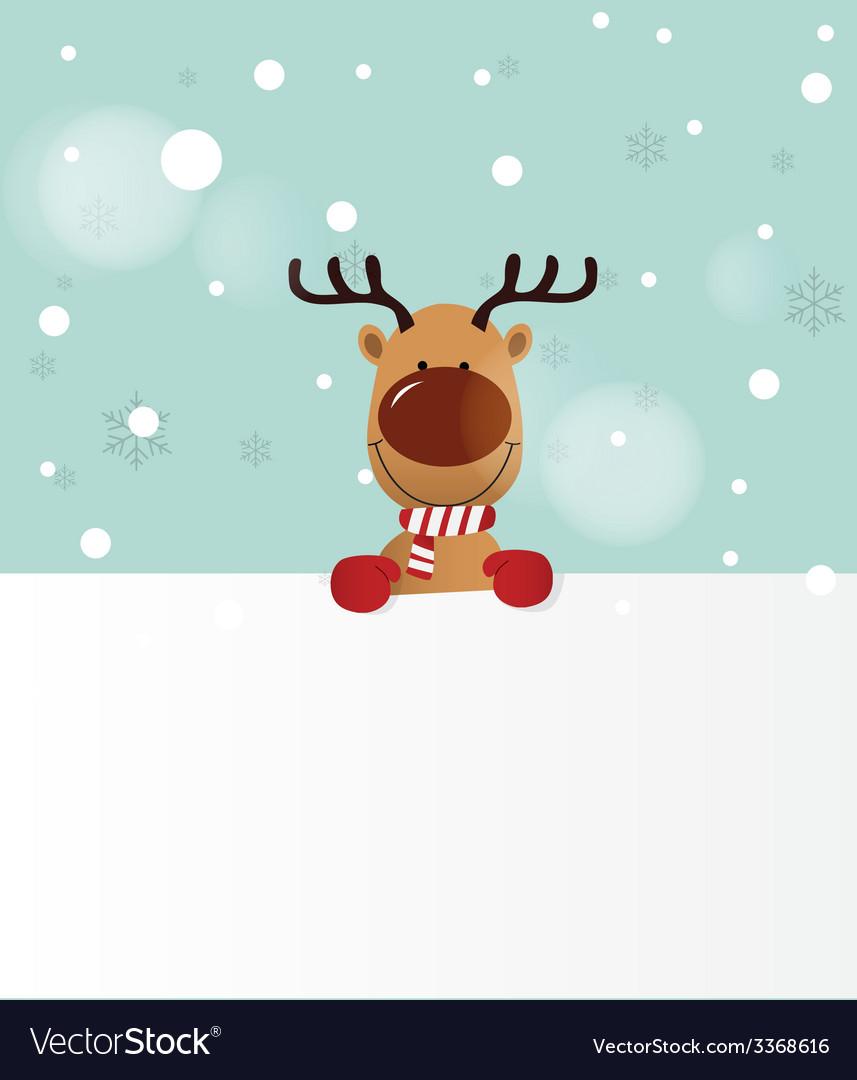 Reindeer holding board vector | Price: 1 Credit (USD $1)