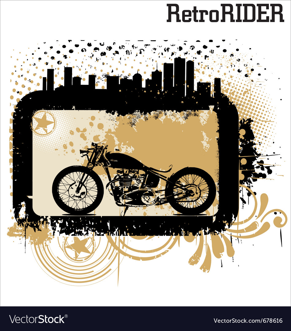 Retro rider background vector | Price: 1 Credit (USD $1)