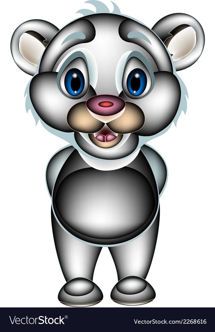 Smiley polar bear standing vector   Price: 1 Credit (USD $1)
