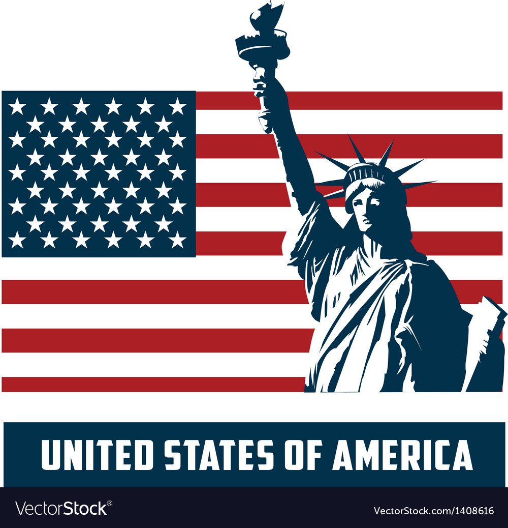 Statue of liberty usa vector | Price: 1 Credit (USD $1)