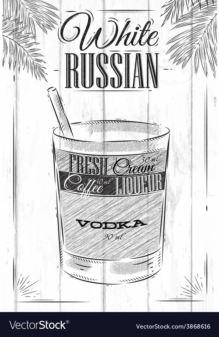 White russian cocktail vector | Price: 1 Credit (USD $1)