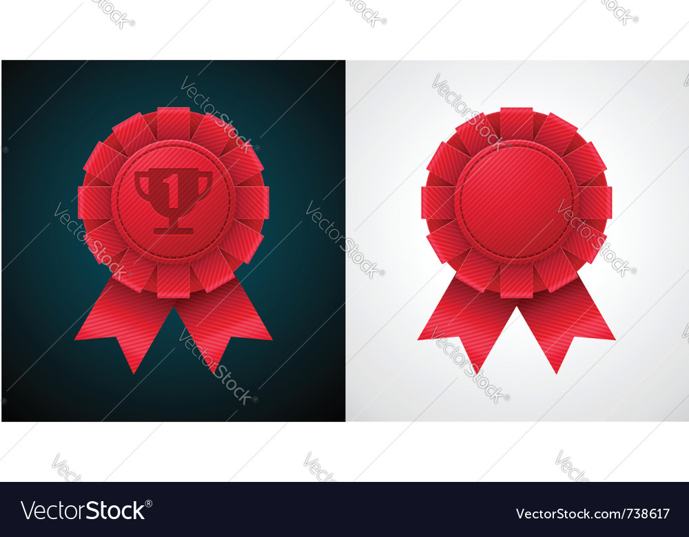 Award badge with ribbon vector | Price: 3 Credit (USD $3)