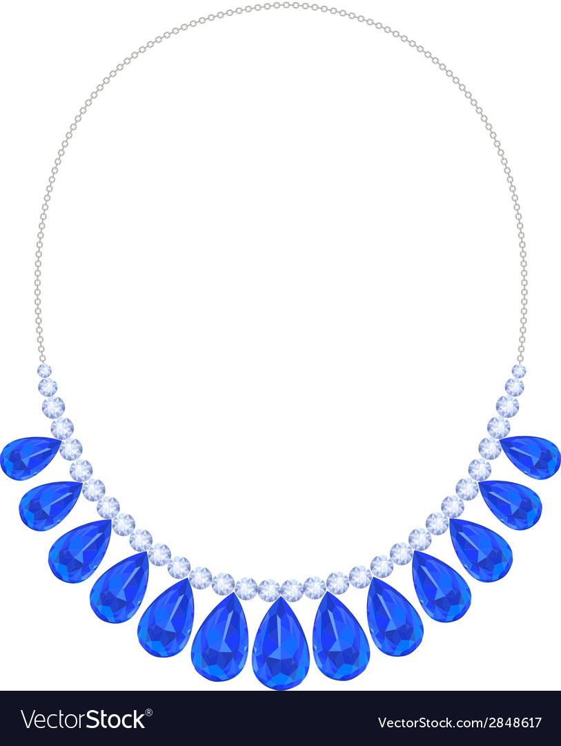 Blue necklace vector | Price: 1 Credit (USD $1)