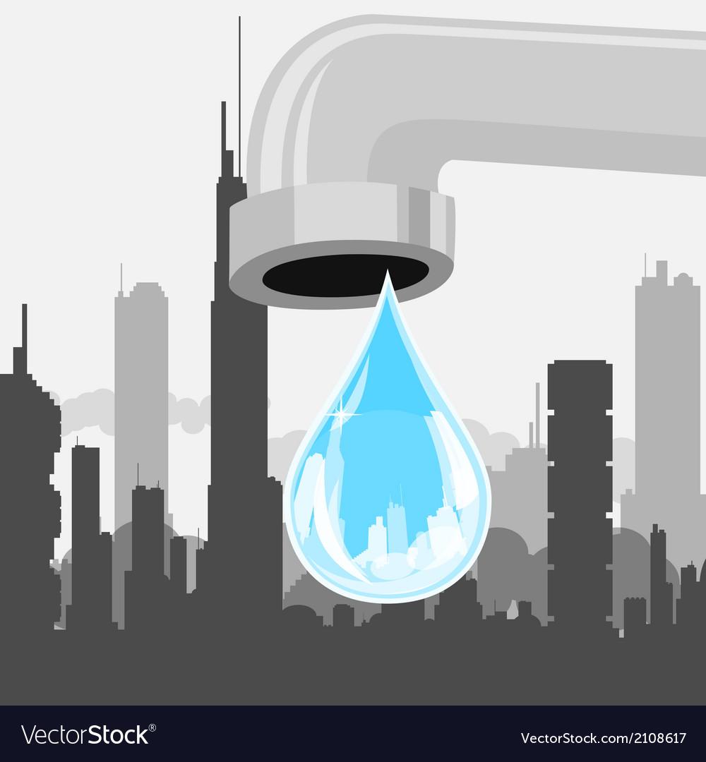 Drop of city vector | Price: 1 Credit (USD $1)